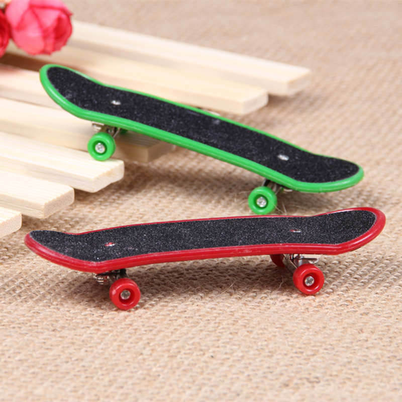 Finger Skateboard Professional Type Bearing Wheels Skid Pad Maple Mini Skateboard Stent Wheel Fingerboard Toys Finger Bmx