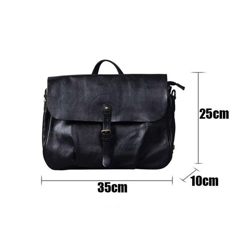 AETOO New Retro Classic men's Postman bag, head-layer cowhide original handmade casual shoulder crossbody bag