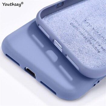 Перейти на Алиэкспресс и купить Чехол для Huawei Y6p, чехол для Huawei Y6p, защитный чехол из жидкого силикона и мягкой резины, чехол для Huawei Y6p, чехол