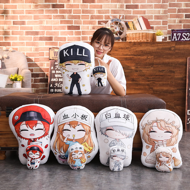 Cells At Work Plush Toy Anime Figure Pletelet Seqkeqkyuu Keychain Doll Cosplay Girl Soft Short Plush Pillow Bag Pendant