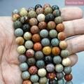 Бусины из натуральной яшмы для браслета, круглые ювелирные украшения «сделай сам» из натурального камня, нить 4, 6, 8, 10, 12 мм, 15 дюймов