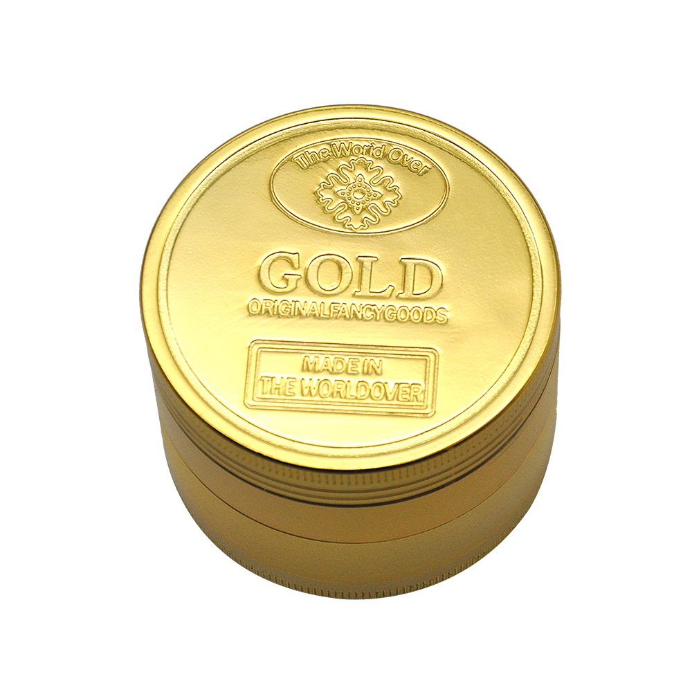 2 Size Available 4 Layers Dia.36mm/43mm Gold Zinc Alloy Metal Herb Grinder spice/tobacco Crusher Tobacco Spice Hand Muller 9