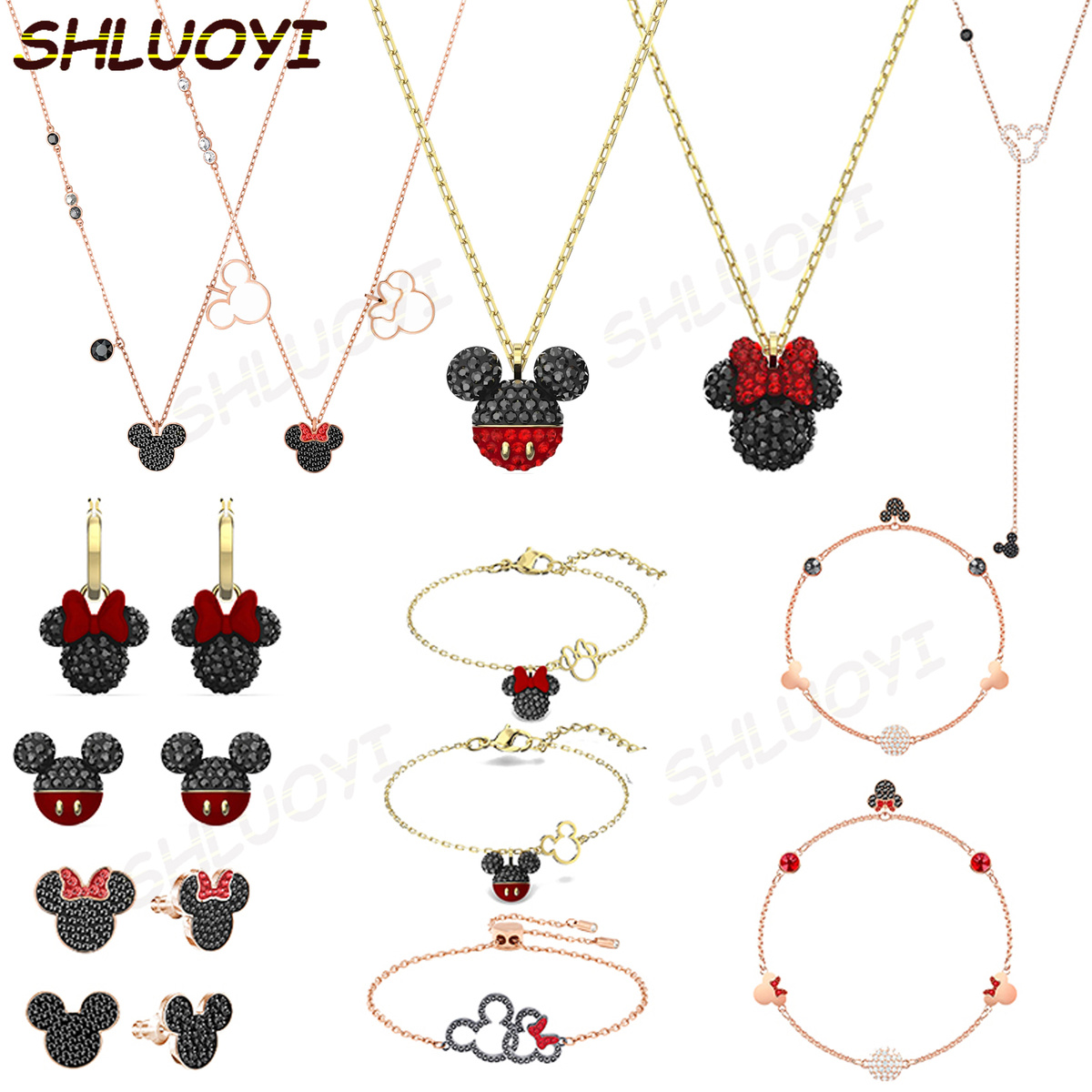 2020swa1:1 fashion jewelry products mouse Necklace Charm series exquisite popular