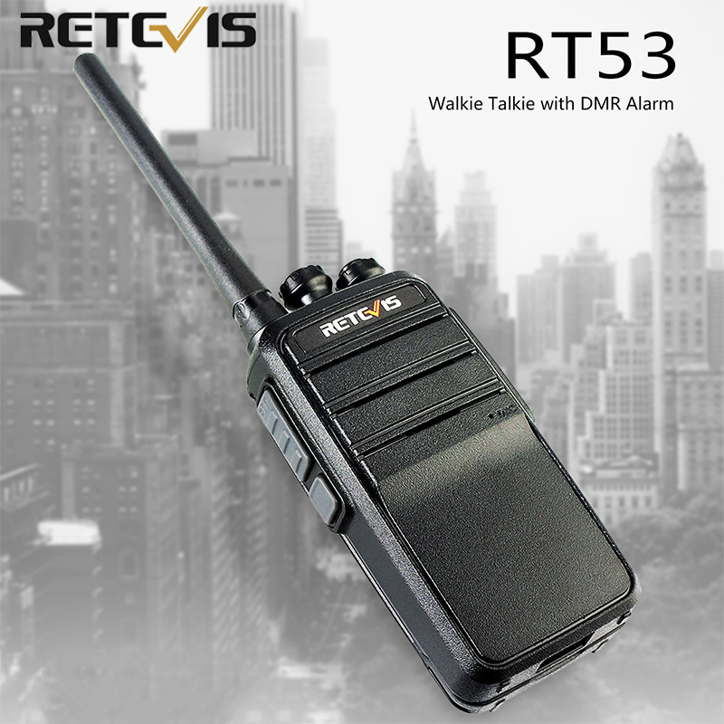 Retevis RT53 DMR Digital Walkie Talkie 2W UHF DMR Radio Two Way Radio Comunicador Transceiver Handsfree Walkie Talkies Ham Radio