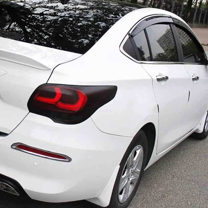 Luz do carro farol matiz vinil filme fosco preto automóvel adesivo folha luz de nevoeiro lâmpada traseira fumaça mate sol proteger filme 30x100cm