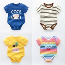 OLEKID 2021 Summer Baby Boys Romper Cotton Cartoon Baby Girls Clothes Newborn Baby Costume Infant Boy Clothing 0-3 Years Kids