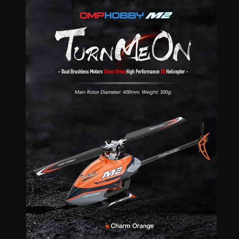 Original Sunnysky OMPHOBBY M2 Dual-brushless motor direct-drive 3D helicopter-BNF