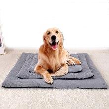 Короткий плюшевый мягкий коврик для домашних животных, зимнее толстое теплое одеяло для собак, кошек, собак, коврик для сна, товары для домашних животных