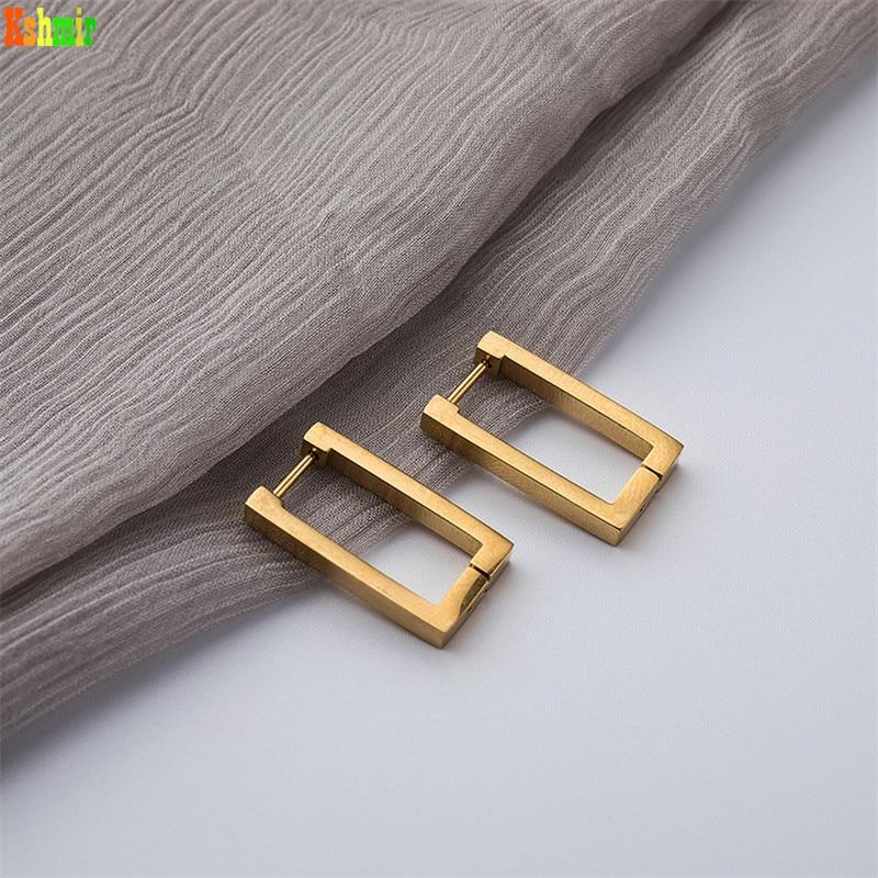 Kshmir – boucles d'oreilles géométriques rectangulaires en métal, titane et acier pour femmes, tendance, nouvelle collection 2020