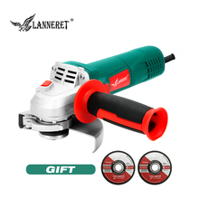 LANNERET 750W Electric Angle Grinder 125mm Disc Side Toolless Guard for Cutting Grinding Metal or Stone Works metal 100 125mm