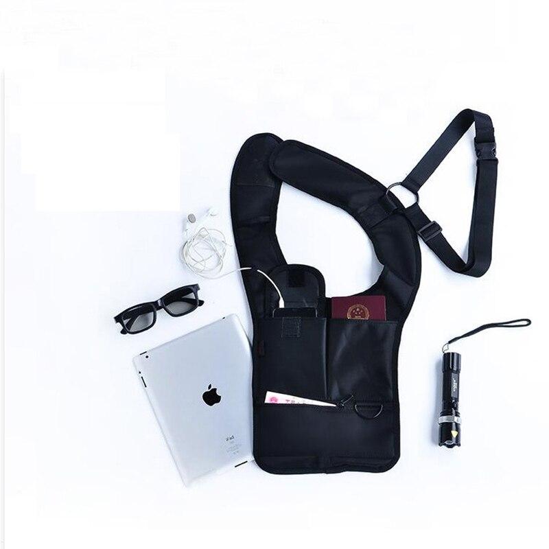 Men Bag secret compartment Phone Pouch Hidden Underarm Anti Theft Shoulder bag