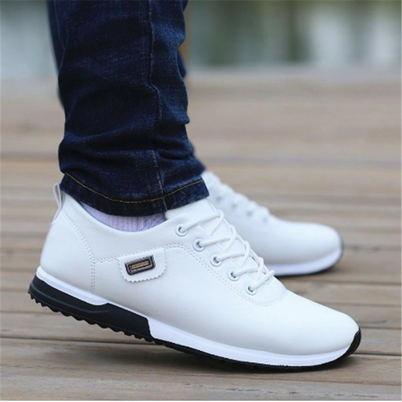 2020 Fashion Loafers Walking Footwear Tenis Feminino Outdoor Breathable Sneakers Men's PU Leather Business Casual Shoes For Male
