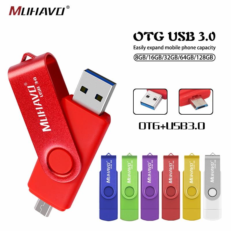 Usb 3.0 Pendrive 64gb Otg Usb Flash Drive 128gb Pen Drive 3.0 32gb High Speed Flash Drive 16gb Memoria Usb Stick 8gb Usb Flash