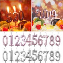 0-9-Number Happy-Birthday Topper-Ornaments Candles Decoration Wax-Crafts Cupcake Party-Supplies