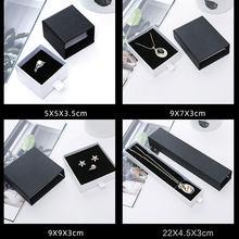 Mücevher kutusu siyah ve beyaz çekmece kutusu yüzük küpe kolye bilezik takı ambalaj hediye paketi kutuları mücevher