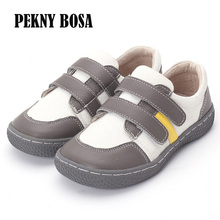 PEKNY BOSA Brand Toddler Kids Loafers Moccasins Solid Anti slip Children barefoot Shoes leather casual shoes boys girls 25 35