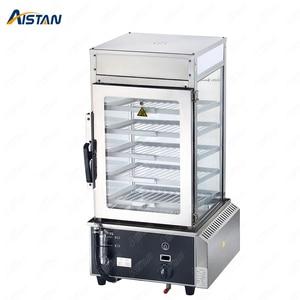 R500L 5 layer Gas Stainless Steel Glass Commercial Bun Steamer Bun Warmer hot dog food steamer Food Warmer