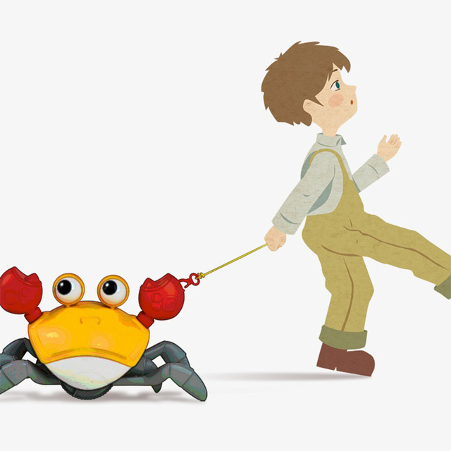 New Classic Cute Cartoon Animal Crab Baby Water Beach Toy Floating Pulling Clockwork Beach Swimming Pool Bath Toys For Kids Gift 5