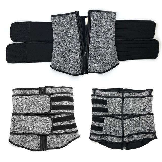 Men Upgraded Version Sweat Belt Waist Trainer Cincher Trimmer Neoprene Hourglass Slimming Body Shaper Band Workout Back Support 3