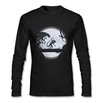 2020 새로운 패션 t-셔츠 Crewneck 코 튼 남자 셔츠 아시아 크기 Streetwear 의류 티셔츠 인쇄 남자 소년 외국인 계약 긴 소매