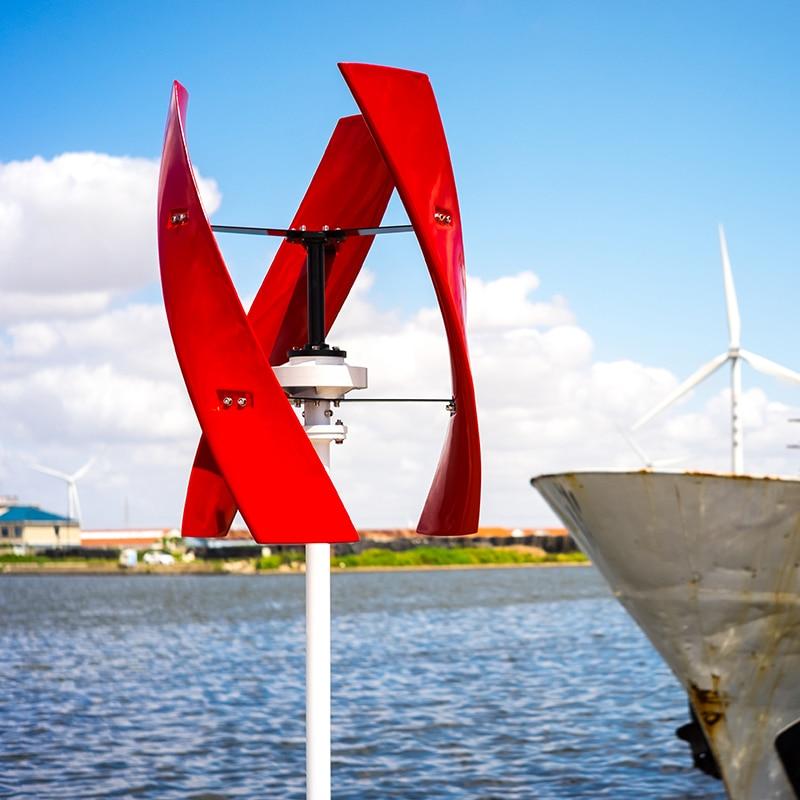 400W CE Wind Turbine Power Generator Maglev Vertical Axis Windmill 12v/24v New X Model for streetlight solar wind hybrid system
