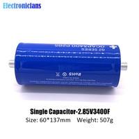 diymore 2.85V 3400F Super Farad Capacitor 2.85V3400F 137*60mm Long Foot Ultracapacitor for Car Automotive Auto Power Supply