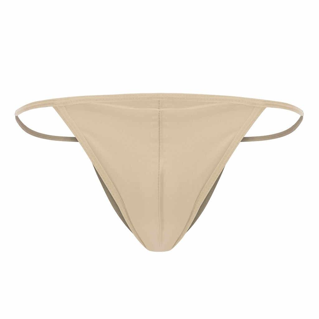 Sexy string homme stringi męskie Stretch Bulge pokrowiec Tanga Bikini figi bielizna majtki tanga hombre ropa wnętrze hombre gejów