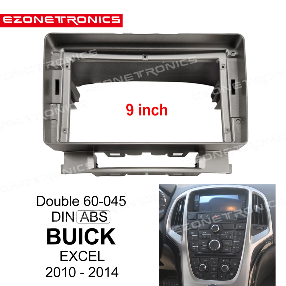 1/2Din Car DVD Frame Audio Fitting Adaptor Dash Trim Kits Facia Panel 9inch For BUICK EXCEL 2010 12 13 14Double Din Radio Player image