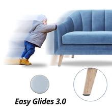 4 قطعة ماجيك الطابق حامي ل خدش الأثاث وسادة كرسي مستديرة سهلة المتزلجون ينزلق مقعد الساق حماة المطاط الجدول قدم منصات