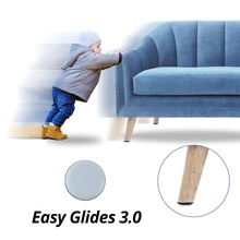 4pcs קסם רצפת מגן שריטות ריהוט כיסא כרית עגול קל גולשים מחליק מושב רגל מגיני גומי שולחן רגליים רפידות