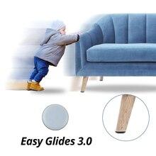 Protecteur magique de sol pour chaise, 4 pièces, protection magique, rond et facile, protection des pieds de Table en caoutchouc