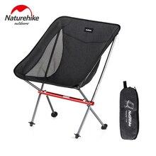 цена на Naturehike Folding Portable Beach Chair Foldable Lighweight Camping Chair Outdoor Backpack Fishing Chair Picnic Chair Seat YL05