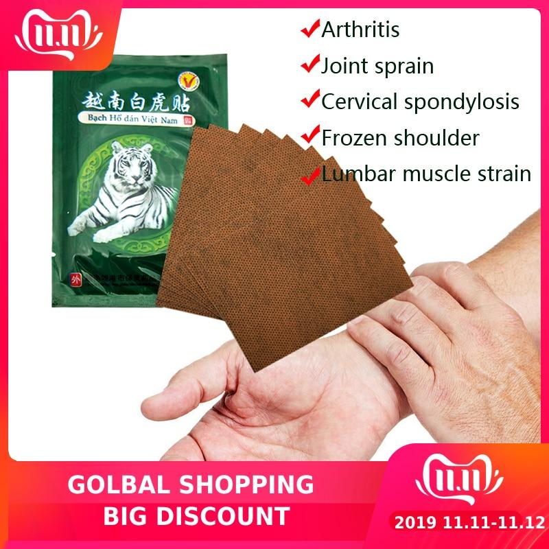 10Bags Vietnam White Tiger Balm Pain Patch Body Neck Massager Meridians Stress Relief Arthritis Capsicum Plaster C161