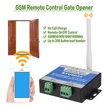 RTU5024 sterownik GSM do otwierania bramy łącznik przekaźnikowy bezprzewodowy pilot drzwi dostęp mechanizm otwierania drzwi bezpłatne połączenie 850 900 1800 1900MHz tanie i dobre opinie NONE CN (pochodzenie) RTU5024 GSM Gate Opener Relay Remote Control Bezpieczne działanie w razie uszkodzenia Brak NC NO dry contact 3A 240V AC