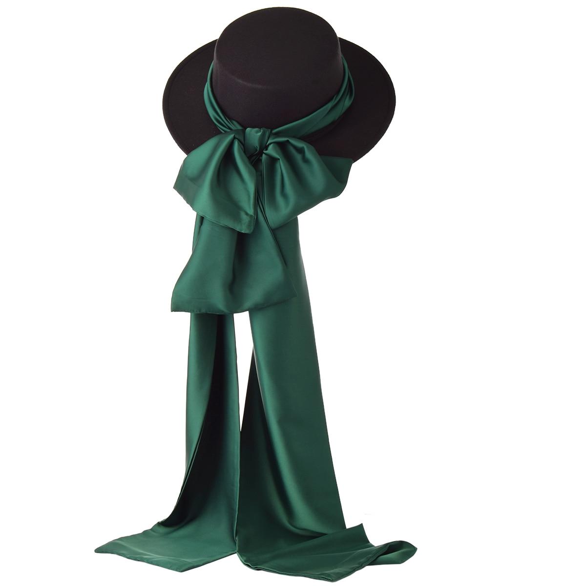 Lolita Vintage Hat for Women Woolen Silk Scarf Fedora