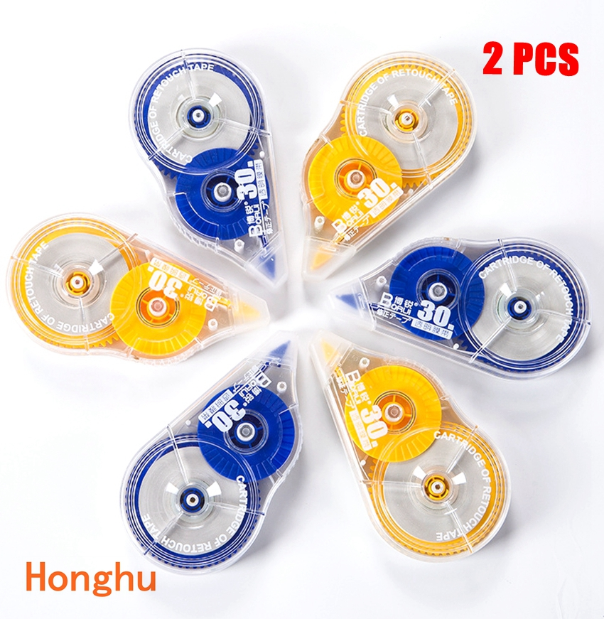 Economical Set 30 M X 2 Long Correct Belt Correction Tape Corretiva Papeleria Stationery Office School Stationery Supplies 2 PC