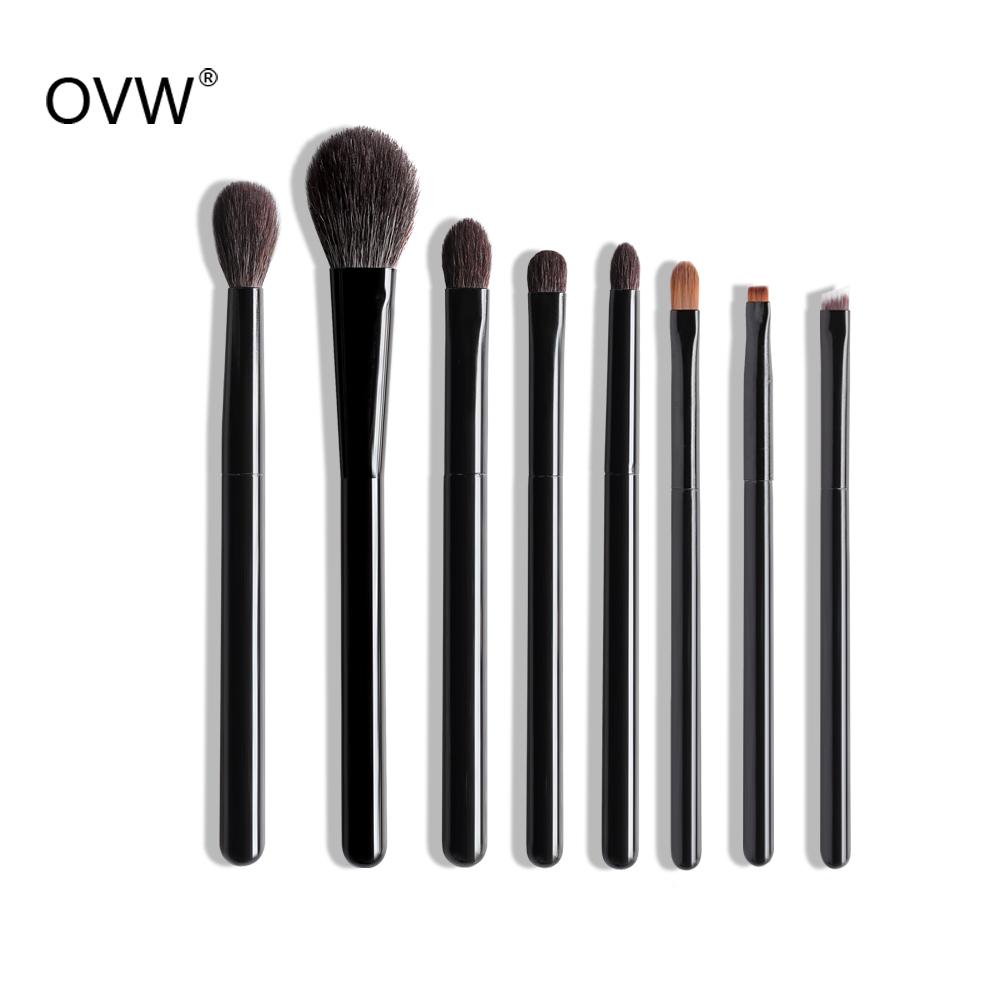 OVW DLH Natürliche fırça seti Haar Make-Up Flache Pulver Pinsel Highlighter Mixer kwasten pinsel set brochas Wiesel Haar Synthetische