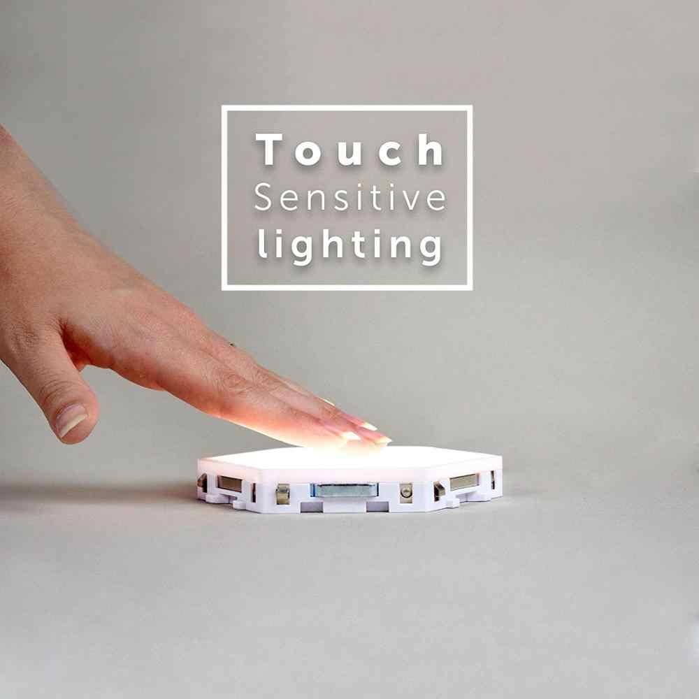 Quantum Lamp Led Nachtlampje Maan Honingraat Night Lamp Wandlamp Verlichting Slimme Modulaire Touch Sensitive Light Voor Slaapkamer