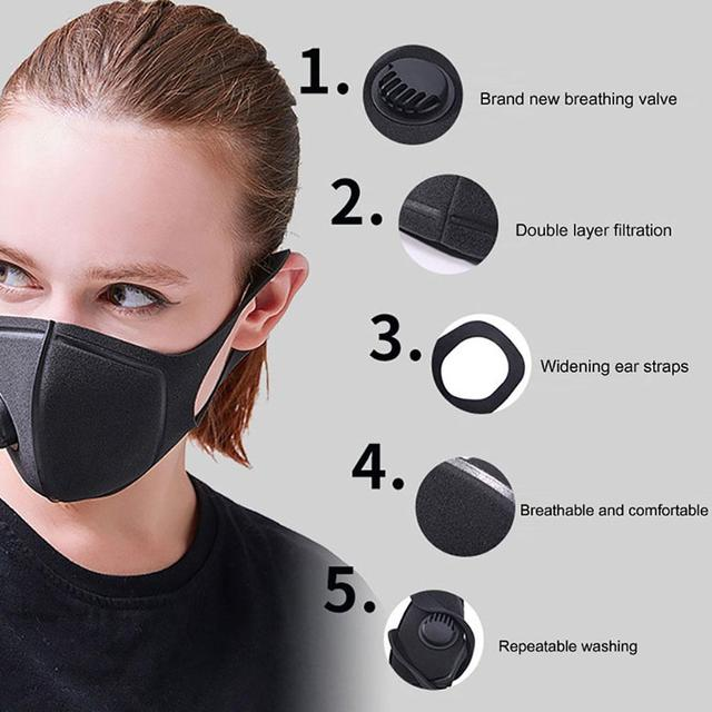 Reusable Haze Dustproof Protective Face Mask Mouth Cover Washable Earloop Face Mask Care Respirator for Summer