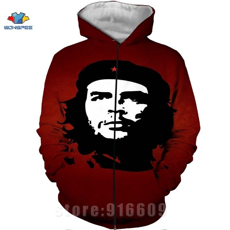 Winter Coat 3D Print Che Guevara Jacket Men Sweatshirts Women Fashion Hoodies Mens Pocket Sweatshirt Harajuku Hoodie Pullovers (2)