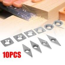 10 шт токарный инструмент карбидные вставки алмазные квадратные