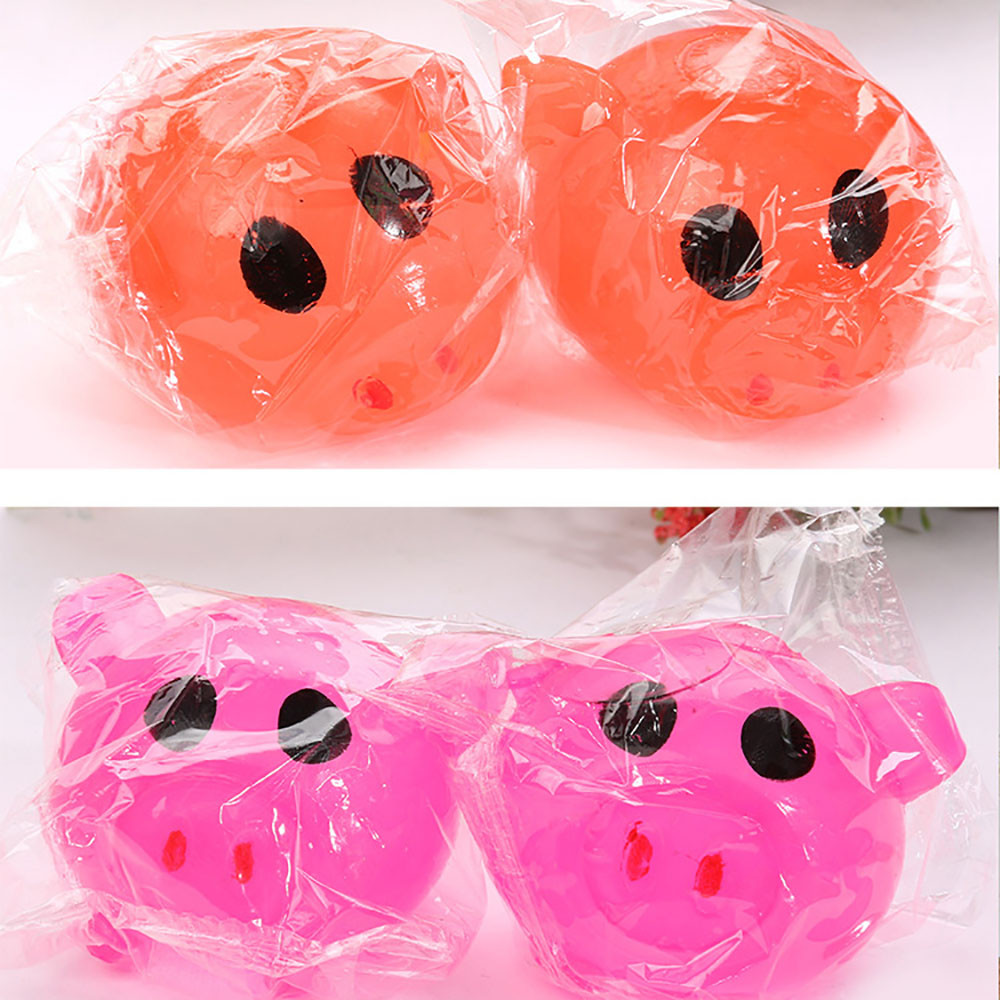 Fashion 1Pc Anti-stress Decompression Splat Ball Vent Toy Smashs Various Styles Pig Toys Funny Gadgets Anti Stress Toys L1227