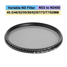 Изменяемый фейдер ND фильтр набор УФ-фильтров с нейтральной плотностью ND2 для ND400 Линзы Фильтры 40,5/46/52/55/58/62/67/72/77/82 мм фон для фотосъемки для цифровой зеркальной камеры Камера