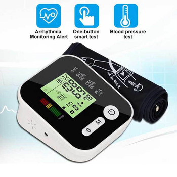 Home Health Care  Automatic Digital Lcd Upper Arm Blood Pressure Meter Heart Beat cuff Monitor Machine Tonometer for Measuring 2