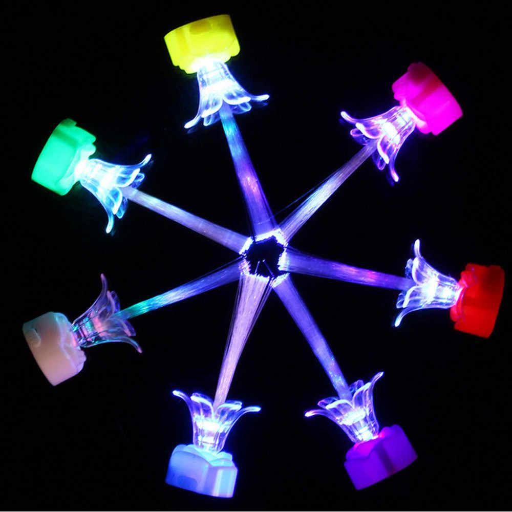 الإبداعية Chlidren لامعة روز فلاش ملون الأطفال ألعاب تعليمية عيد الميلاد لعب للأطفال توهج في الظلام الطلاء توهج