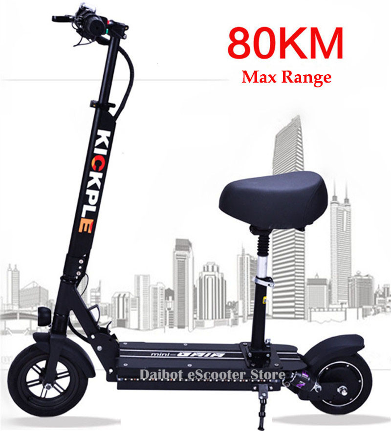 Electric Scooter Seat 8 Inch Two Wheels Electric Scooters 48v Lightweight Portable Folding Electric Kick Scooter Adults