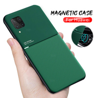 Magnetische Halter Telefon Fall für huawei p30 pro p40 lite p20 licht fällen auf ehre 10i 10 20 lite 30s 8a 9x30 20 pro Leder Abdeckung