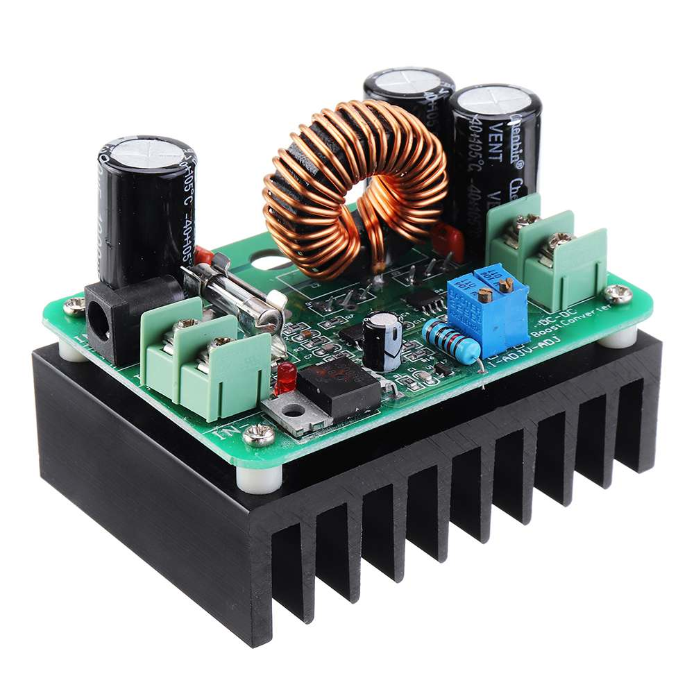 <font><b>DC</b></font>-<font><b>DC</b></font> 10-60V to 12-80V <font><b>600W</b></font> <font><b>10A</b></font> Transformer Boost Converter <font><b>Step</b></font> <font><b>Up</b></font> Voltage Regulator Power Supply Module Adjustable Output image