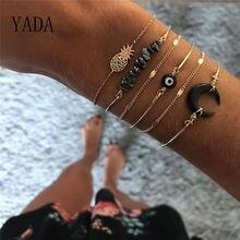Yada подарки 6 шт ананас & Луна браслеты и для женщин богемные