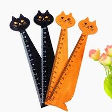 1pcs/lot Vintage Cute Cat Design Drawing Gift Measuring Tool Korean Reglas De Patchwork Office School Kitten Rulers